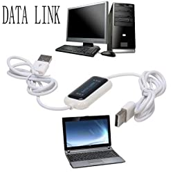 Data Link High Speed USB 2.0 Pc to Pc Online Data Online Share Sync Link Net File Transfer Led Cable Easy Copy FREE PORTABLE LED LAMP