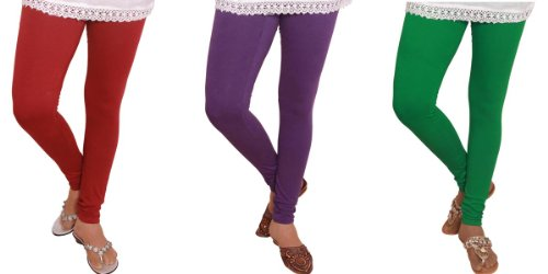 3 Pc Desi Crown Cotton Super Soft - Basic Casual Leggings