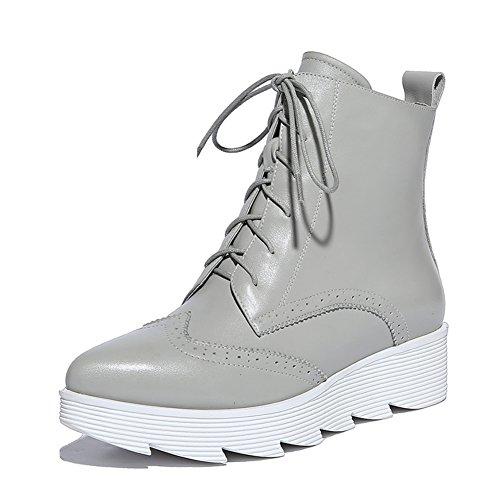 scarpe autunno e inverno più velluto/Punta STRINGATE piattaforma/Scarpe donne di grandi dimensioni-B Lunghezza piede=25.3CM(10Inch)
