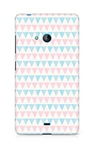 Amez designer printed 3d premium high quality back case cover for Microsoft Lumia 540 (triangle pattern)