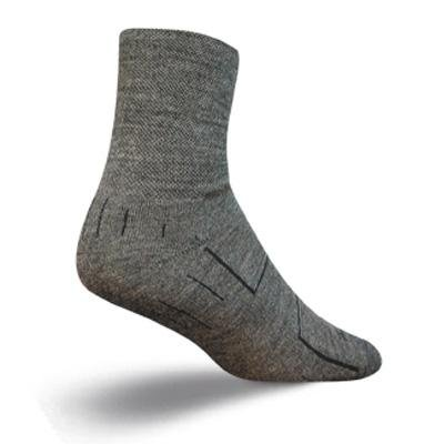 Image of SockGuy Wooligan 4in Charcoal Cycling/Running Socks (B002WLR9YA)