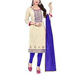 Applecreation Women's Beige | Synthetic unstitched dress materials for women party wear bollywood dress material for Casual | Ceremony | Evening Occasions