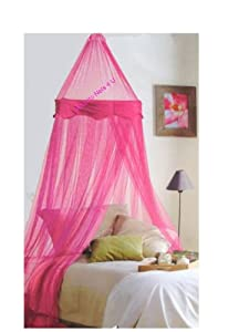 NEW Hot Pink Bed Canopy with Velvet Panel