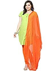Castle Dark Orange Chiffon Dupatta