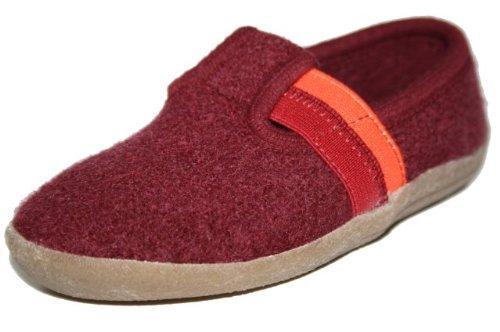 Scarpe Haflinger pantofole per bambini Unisex - Bambini, Rosso (Bordo), 25 EU