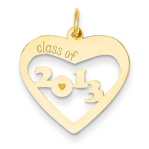 14k Class of 2013 Heart Cut Out
