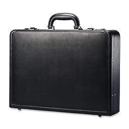 Wholesale CASE of 2 - Samsonite Bonded Leather Attache Case-Leather Attache, 17-7/8\