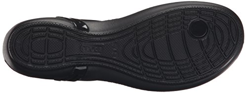 Crocs Women's Isabella T-Strap Jelly Sandal, Black, 8 M US