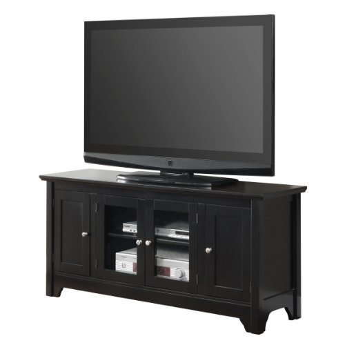 buy low price 52 solid hard wood tv media stand console cherry b008dz1q66. Black Bedroom Furniture Sets. Home Design Ideas
