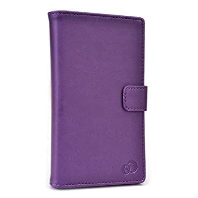 PURPLE | PU LEATHER UNIVERSAL PHONE HOLDER WITH STAND| FITS Motorola DROID RAZR MAXX from KROO