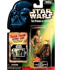 Power of the Force Freeze Frame C-3PO w/CargoNet