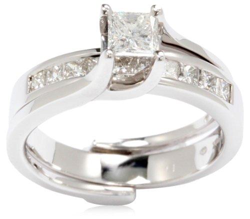 Kobelli 1 Cttw Princess Cut Diamond Wedding Set Rings