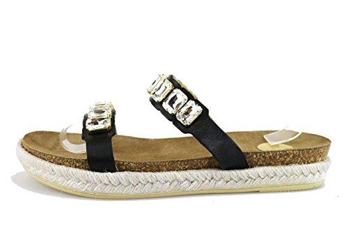 RAS sandali donna nero pelle AG463 (36 EU)