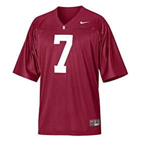 Nike Red Replica #7 Stanford Cardinal Football Jersey
