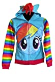 My Little Pony Rainbow Dash Youth Zip Up Hoodie, Large (12/14)