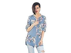 Chique Women's Shirt (bluebds_Blue _Large)