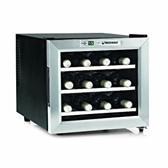 Wine Enthusiast Silent 12 Bottle Wine Refrigerator (Stainless Steel)