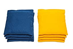 Weather Resistant Cornhole Bags (Set of 8) by SC Cornhole (Royal Blue/Yellow)