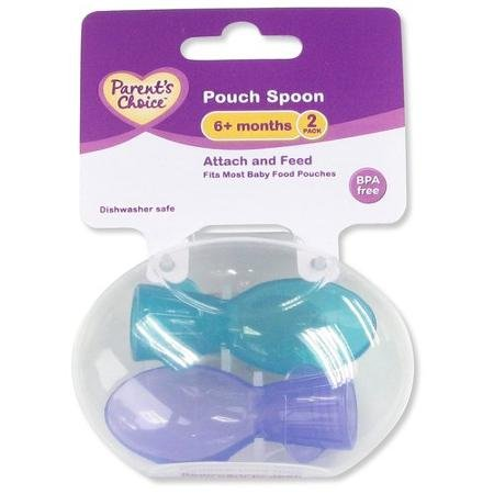 Parent's Choice Pouch Spoons, 2 count