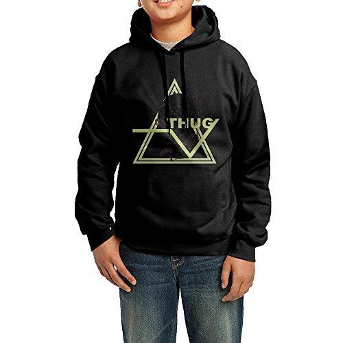 Black Young Thug Icons Cotton Hoodies For Boys Funny