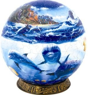 Cheap Fun Unicorn Enterprises A1521_6 Tropic Dolphins 6 Inch Puzzle Sphere 240 pc puzzle (B00133ZJLI)
