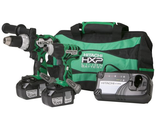 Hitachi KC18DCL 18-Volt Lithium Ion Impact Driver and Hammer Drill Combo Kit