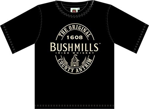 Bushmills Whiskey Black Label T -Shirt ,Black,XX-Large (Whiskey Merchandise compare prices)