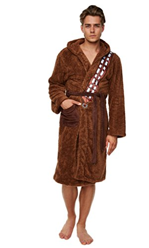 Only Fools and Horses Del Boy Mens Brown Dressing Gown Bathrobe