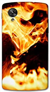 Timpax Light Weight One-piece construction Hard Back Case Cover Printed Design : A place on fire.Compatible with Google Nexus-5