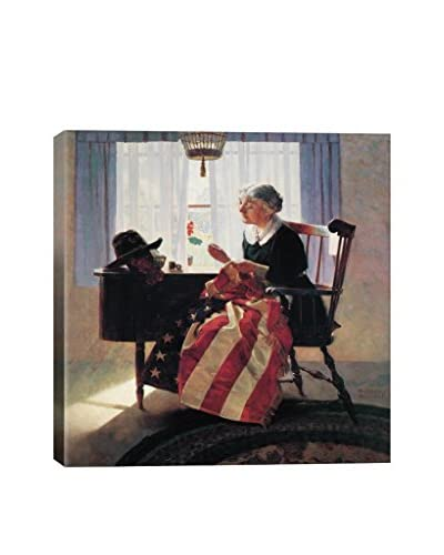 Norman Rockwell Mending The Flag Giclée Print