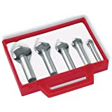Magafor 4834 Series Cobalt Steel Single-End Countersink Set, TiN Coating, 3 Flutes, 82 Degrees, Round Shank (5 Piece Set)