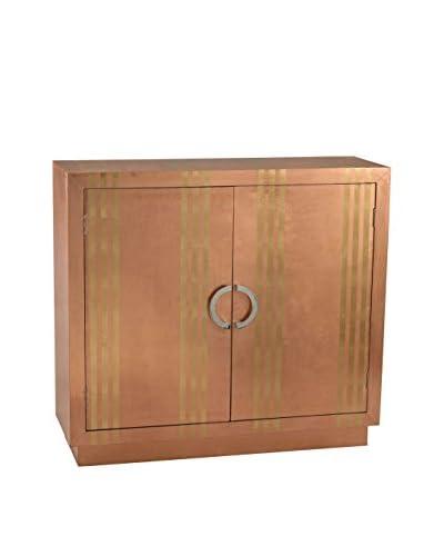 Artistic Luxe Striped Cabinet, Copper
