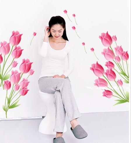 【気分一新】壁紙 チューリップ 鮮やかでお部屋が華やか 簡単に貼れる 70×100cm 壁紙シール クロス