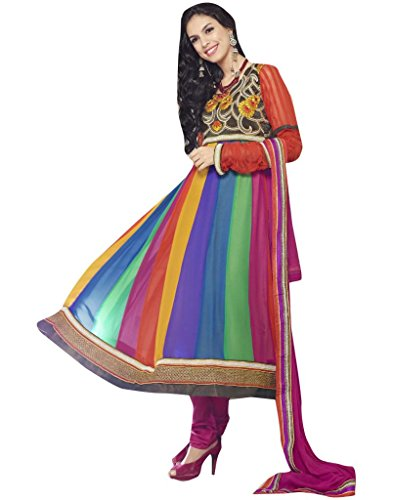 Mayloz - Pure Georgette Embroidered Salwar kameez Shalwar Kamiz M56-9101