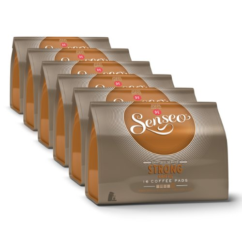 Buy Senseo Strong / Dark Roast, New Design, Pack of 6, 6 x 16 Coffee Pods by Douwe Egberts
