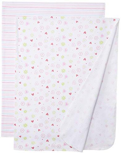 Spasilk Baby-Girls Newborn 2 Pack Swaddle Blanket, Pink Flower, One Size