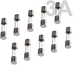 BCP pack of 10 pcs F3AL Fast-Blow Fuse 3A 250V Glass Fuses 5 x 20 mm 3A