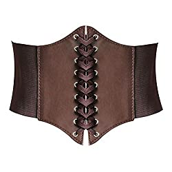 Hanerdun® Lace-up Corset Style Elastic Cinch Belt Waist Belt Two Sizes