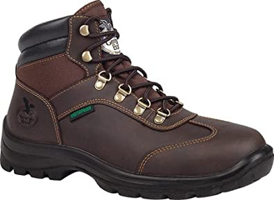 Georgia Boot Waterproof Hiker Work Shoe - Dark Brown, Size 11, Model# G052