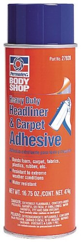 Permatex 27828-6PK Body Shop Heavy Duty Headliner and Carpet Adhesive - 20 oz., Pack of 6