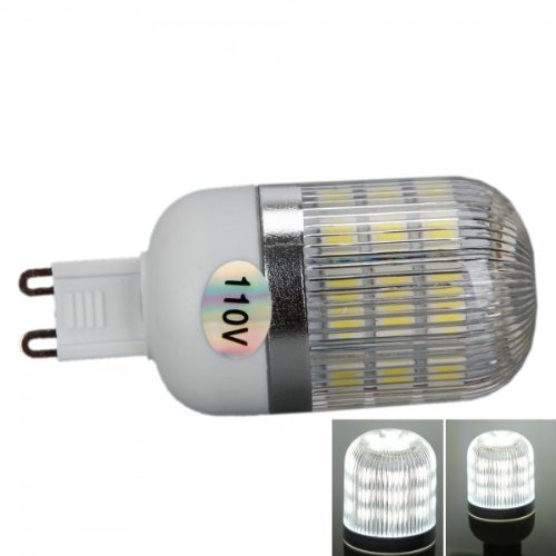 Fast Shipping + Free Tracking Number , G9 5W 110V Light Lamp Bulb Led 400Lm Lumen 6000 K White Corn Shape Bulbs With Silver Side Stripes Cover