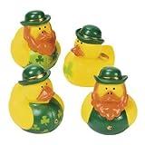 Set of 12 St. Patrick's Day Rubber Ducks
