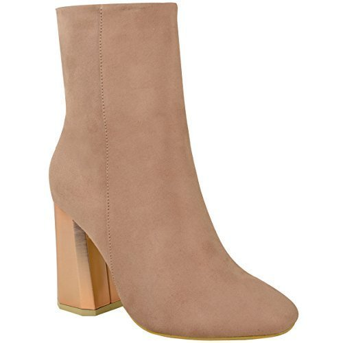 womens-ladies-metallic-hexagon-facet-heel-ankle-boots-chelsea-winter-party-size