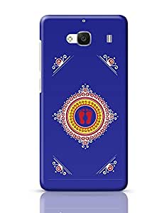 PosterGuy Redmi 2 Case Cover - Goddess Foot on Blue Background | Designed by: Codeburnerz Technologies