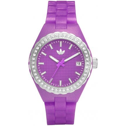 Adidas ADH2107 Women's Cambridge Purple Plastic Polyurethane Strap Crystal Watch