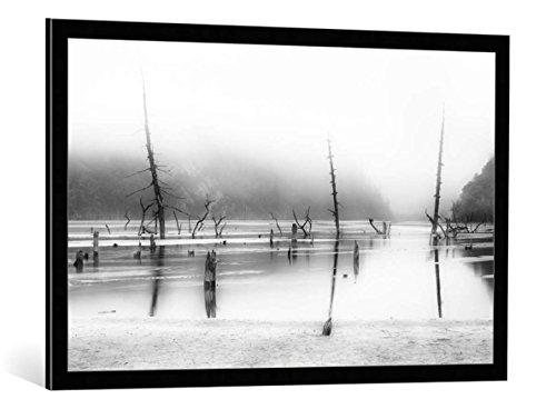 """Quadro con cornice: Nicolas Marino """"Desolated"""" - stampa artistica decorativa, cornice di alta qualità, 100x65 cm, nero / angolo grigio"""