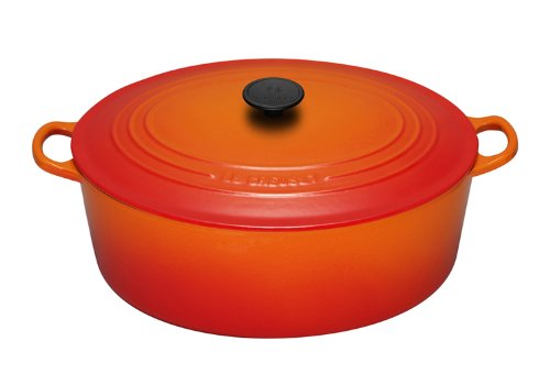 Le Creuset Enameled Cast-Iron 6-3/4-Quart Oval French Oven, Flame