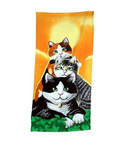 Homemania Telo Mare Cats Multicolore