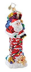 Christopher Radko Glass Santa's Chimney Challenge Christmas Ornament #1014906