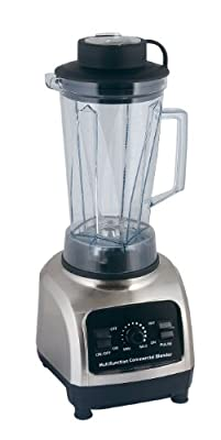 Dr Tech 3hp High-performance Commercial Electronic Blender Bl-500 Personal Multi-function Mixer , Black and Silver, Power Elite, with Stainless Steel Blade Health Care Nature Fruit from SVP